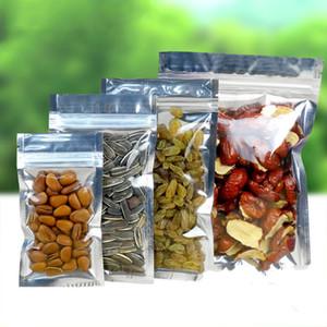 100pcs Limpar Folha de alumínio saco prateado metálico plástico Embalagem Baggies Pouch for Cookie Doce Tea Alimentos Baking Tobacco Herb