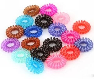 Atacado Linha Telefônica Elastic Hair Bands Cabelo Primavera Rubber Hair-corda laços de anel de desgaste de desgaste de Diâmetro Mulheres Titular Caudas de Pônei