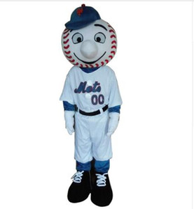 Mr tan maskeli kostüm yeni çizgi film çocuk kostümleri beyzbol maskot kostümleri