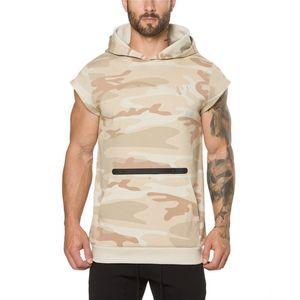 Nuevo otoño Camuflaje fitness Bodybuilding mangas cortas ropa deportiva Printing Chic Diseñado Full Sleeve Men Sweatshirt
