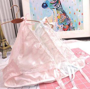 100% Fotos reales M L XL corbata lateral Encantador lindo Lolita Kawaii Princesa bragas de encaje Calcinha ropa interior breve Lingeries WP361