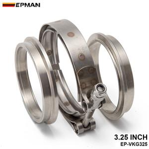 Epman 3.25 polegadas Turbo escape tubo de aço inoxidável # 304 V-Band Braçadeira com 2 Flange EP-VKG325