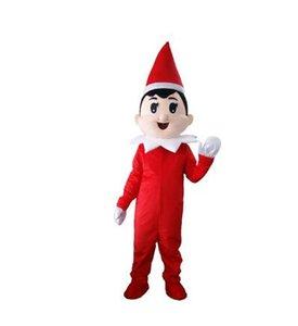 Erwachsene Zeichentrickfigur Weihnachtsjunge Maskottchen-Kostüm Halloween-Parteikostüme für Halloween-Parteikostüme