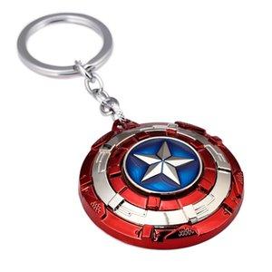 Chaînes Avengers Captain America Key Perimeter animation nouvelle boucle à clé rotative