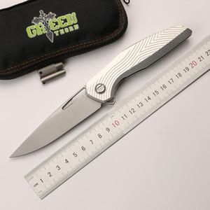 Épine verte F111 3D pliant couteau pliant D2 lame aviation aluminium alliage poignée camping couteau de fruits en plein air outil EDC