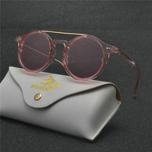 2019 Hip Hop Retro Small Round Sunglasses Women Vintage punk Sunglasses Men Gold sun Glasses for women Frame Eyewear NX