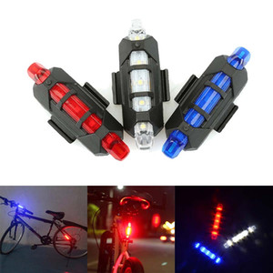 Vélo 5 LED USB Rechargeable Vélo Bicycle Tail Warning Light Lampe de sécurité arrière Vélo Bike light 4 Modèle Warning Light Livraison gratuite