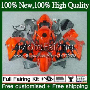 Body For SUZUKI Hayabusa GSXR 1300 02 03 04 05 06 07 56MF0 GSX R1300 GSXR-1300 Orange black GSXR1300 96 97 98 99 00 01 Fairing Bodywork