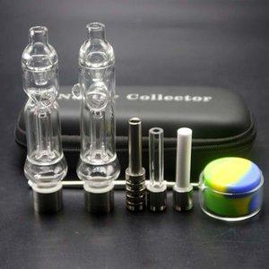 Em Inventário 510 Tubulações de água Mão fio mel Kit Straw Mini vidro Dab Rig com cerâmica unha e Quartz prego Gift Box EGO