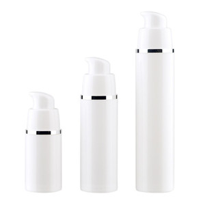 15 30 50ML White Empty Airless Pump Bottles Vaccum Travel Lotion Pump Containers Airless Lotion Dispenser Refillable Cosmetic Bottle