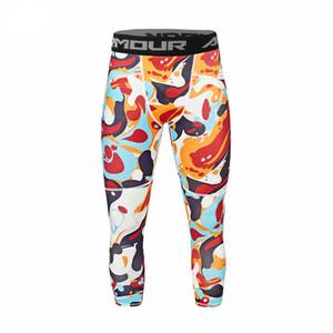 Pantalones de correr para hombre Pantalones de ciclismo Capa base Deportes Cool Gear Apretado Pantalones deportivos Pantalones de yoga Hombres
