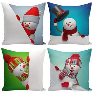 3D bonhomme de neige Impression pillowslip Soft Touch mignon Throw carré Taie d'oreiller fête de Noël Canapé Décor Housse de coussin pour Creative Gifts 5 5yf ZZ