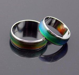 Vendita calda Unisex Mood Rings Incredibile Magic Color Change Emotion Feeling Epack spedizione gratuita taglia 16 17 18 19 20 acciaio inossidabile