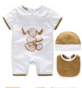 Brand New Vêtements pour Enfants New Born Summer Outfits Bébé Filles Cartoon Barboteuses 3 Pièce Ensemble Bébé Garçons Combinaisons 0-24 M Livraison Gratuite
