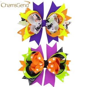 Recém clipes Design Curva Big coloridos Grampos Halloween Cabelo festa para crianças das crianças meninas Acessórios de cabelo 160802 Gota 20PCS