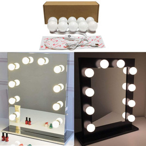 Hollywood Style Vanity Mirror Lights  Vanity Light Kit with 10 Cosmetic Dressing Bulb USB Power Supply in Dressing Room