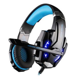 KOTION CADA Sem Fio Bluetooth Headband Headband Gaming Headset Fones De Ouvido Estéreo Fone De Ouvido Com Luz Mic para PC LOL Jogo