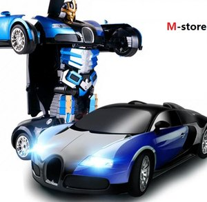 s 사치 스포츠카 모델 변형 로봇 변환 RC 자동차 완구 어린이 크리스마스 선물