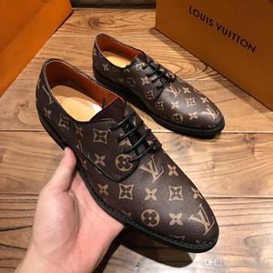 Venta al por mayor de los nuevos hombres de cuero salvaje casual Guisantes británicos hechos a mano ropa de cuero transpirable desgaste de conducción zapatos