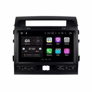 "Q2GB RAM Quad core 9 ""Android 7.1 Car DVD Navegación GPS para DVD de coche Toyota Land Cruiser 2008-2012 con radio Bluetooth WIFI 16 GB ROM DVR"