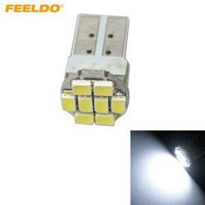 FEELDO 10шт Мощность белый T10 194 168 1206/3528 8SMD Wdege автомобиля Боковые светодиодные лампы # 1059