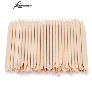100pcs Nail Art Orange Wood Stick Cuticle Pusher Remover For Nail Art Care Manicures Tools Dropship