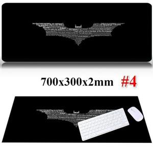 Frase creativa Batman Logo Large Gaming Mouse Pad Teclado escritorio Mat para computadora portátil Accesorios para PC