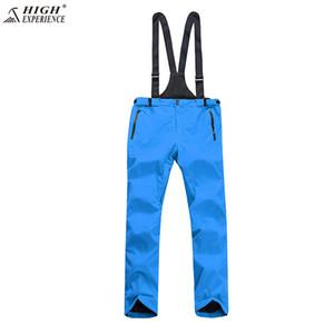 2018 NEW High Experience Winter Orange Ski Pant Snow Snowboard Pants Men Suspenders Overalls Ski pants free shipping