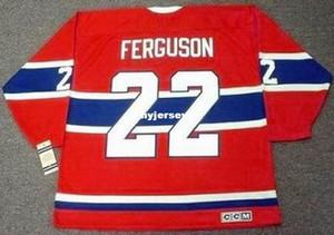 Personalizado Hombres JOHN FERGUSON Montreal Canadiens 1968 CCM Vintage Retro Hockey Jersey