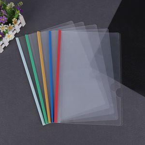 شفافية سحب rop مجلدات ملف البلاستيك a4 مجلدات ملف مجلد وثيقة عقد أكياس المجلدات تخزين الورق مكتب اللوازم المدرسية