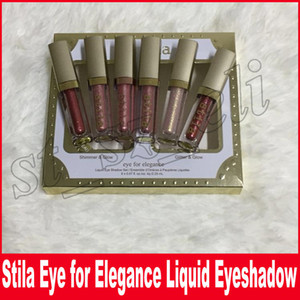 Stila Eye For Elegance set Shimmer Glitter Liquid EyeShadow maquillaje 6 colores Brillo brillo sombra de ojos líquida set Envío gratis