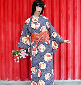 Asya Geleneksel Standart Japon Çiçek Kimono Seksi kadın Pamuk Kimono banyo Robe Pijama Gecelik Japonya Oturma giyim