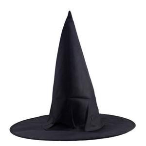 1 unid Adultos Hombres Hombres Negro Sombrero de Bruja para el Accesorio de Disfraz de Halloween Partido de Hen's Cap Magic Hat navidad decoración de halloween