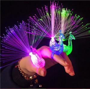 Peacock Parmak Işık Renkli LED Işık-up Yüzükler Parti Gadgets Beyin Gelişimi için Çocuklar Akıllı Oyuncak c550