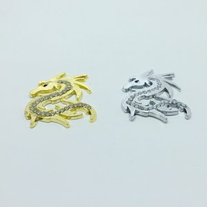 Free Shipping 2pcs set 3D Car Styling Crystal Dragon Car Stickers Metal Dragon Motorcycle Decoration Accessories