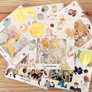 70 шт / много Созвездие животных Мини Бумага наклейки Diy Diary Planner Декоративные наклейки записках Канцтовары 13 Design