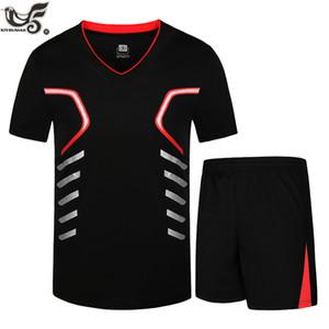 XIYOUNIAO plus la taille M ~ 7XL 8XL 9XL hommes d'été rapide sec t-shirt survêtement occasionnels sport hommes définit 2pcs sportswear t-shirt ensemble