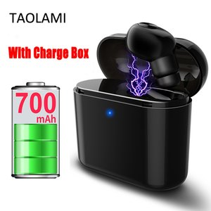 New Invisible Wireless Bluetooth Earphone Mini Bluetooth Headset Wireless earbudsFor iphone android With 700mAh Charging Box Wholesale