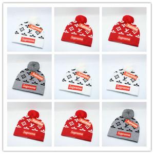 Top Venda de Luxo Homens Mulheres Gorros Carta Bordado Gorros De Malha Caps Homens Mulheres Esporte Chapéus de Esqui Hight Qualidade