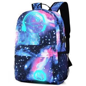 Bolsas anti-ladrón de luz nocturna para niños Mochila escolar con caja de lápices de anime bolsos escolares luminosos para niño niña estudiante mochila