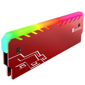 JONSBO NC-1 de aleación de aluminio-magnesio efecto RGB Light Glow memoria de escritorio de enfriamiento del chaleco