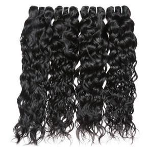 8A Brésilienne Vague Naturelle Vierge Cheveux Weave 4 Bundles 8A 100% Non Transformés Extensions de Trame de Cheveux Humains Naturel Couleur 95-100g / pc