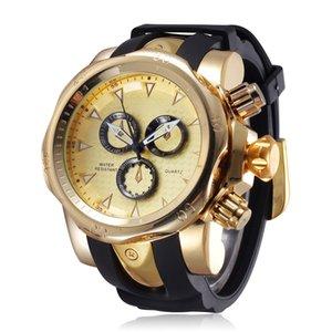 Famous Brand Big Dial Reloj para hombre Quartz Big Face Relojes Rubber Band 52MM Rose Gold Reloj para hombre Luxury Mens Relojios New Y1892111