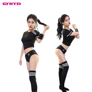 GYHYD Sexy Cheerleader Cosplay TOP Shirt+Panty Erotic Costumes Teenage Girls Soccer Baby Outfits C18111601