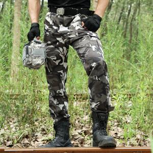 Pantalones de camuflaje Pantalones Cargo Hombre Ejército Trabajo Pantalones Combat SWAT Pantalón táctico Camo Overol Jogger Casual Pantalón