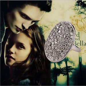 Fashion Silver Charm Vampire Twilight Bella Crystal Ring Vintage Vampire Movies Engagement Wedding Ring For Women Jewelry Accessorie