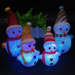 لطيف الصمام ثلج لعبة عيد الميلاد زخرفة حزب زخرفة مصغرة ضوء فلاش ثلج لعب عيد الميلاد ثلج LED دمى الاطفال هدية