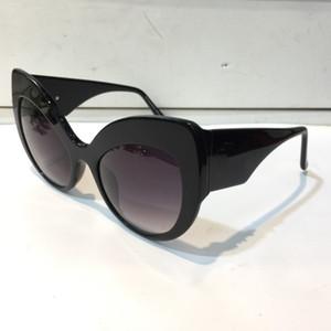 80123 Neue Sonnenbrille für Frauen Barockstil Katze Eye Rahment Sonnenbrille Italienisch Vergoldet Schmetterlingsrahmen mit Fall Klassische Sonnenbrille
