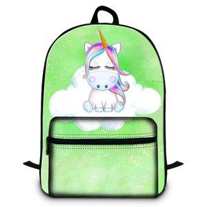 15.5 pollici Zaino per notebook per ufficio donna Unicorno Animal Designer Zaini scuola per ragazza Borse a tracolla casual per il viaggio Sac A Dos