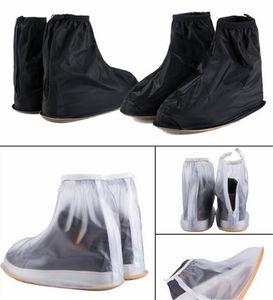 Многоразовые чехлы для обуви от дождя и дождя Водонепроницаемые ботинки Overshoes Boot Gear на плоской подошве для мужчин Черно-белые непромокаемые чехлы